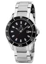モメンタス 時計 Momentus Stainless Steel Black Dial Unidirectional Bezel Mens Watch FS203S-04SS