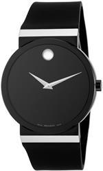 モバード 時計 Movado Mens 606268 Sapphire Synergy Black Rubber Strap Watch