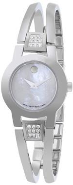 モバード 時計 Movado Womens 0606617 Amorosa Stainless Steel White Mother-Of-Pearl Watch<img class='new_mark_img2' src='https://img.shop-pro.jp/img/new/icons5.gif' style='border:none;display:inline;margin:0px;padding:0px;width:auto;' />