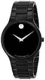 モバード 時計 Movado Mens 0606594 Serio Black PVD Watch