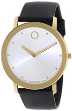 モバード 時計 Movado Mens 0606695 Movado TC Gold-Plated Stainless Steel Case Black Calfskin Leather<img class='new_mark_img2' src='https://img.shop-pro.jp/img/new/icons10.gif' style='border:none;display:inline;margin:0px;padding:0px;width:auto;' />