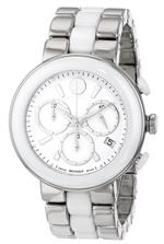 モバード 時計 Movado Womens 0606758 Cerena Stainless Steel White Ceramic Case and Bracelet White