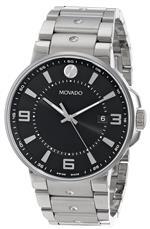 モバード 時計 Movado Mens 0606761 SE. Pilot Stainless Steel Case and Bracelet Black Dial Watch<img class='new_mark_img2' src='https://img.shop-pro.jp/img/new/icons33.gif' style='border:none;display:inline;margin:0px;padding:0px;width:auto;' />