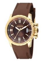 モメンタス 時計 Momentus Stainless Steel Brown Rubber Band Brown Dial Womens Watch TR108G-06RB