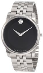 モバード 時計 Movado Mens 0606504 Museum Stainless Steel Black Museum Dial Bracelet Watch<img class='new_mark_img2' src='https://img.shop-pro.jp/img/new/icons6.gif' style='border:none;display:inline;margin:0px;padding:0px;width:auto;' />
