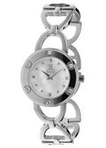 モメンタス 時計 Momentus Silver Tone Stainless Steel Black Dial Womens Watch FJ169S-09SD