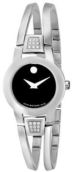 モバード 時計 Movado Womens 604982 quotAmorosaquot Diamond-Accented Stainless Steel Bangle Watch