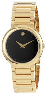 モバード 時計 Movado Womens 0606420 Concerto Gold-Plated Stainless-Steel Black Round Dial Watch<img class='new_mark_img2' src='https://img.shop-pro.jp/img/new/icons25.gif' style='border:none;display:inline;margin:0px;padding:0px;width:auto;' />
