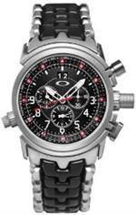 オークリー 時計 Oakley Mens 10-057 12 Gauge Chronograph Stainless Steel Bracelet Edition Watch