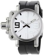 オークリー 時計 Oakley Mens 10-064 Gearbox Brushed White Dial Watch