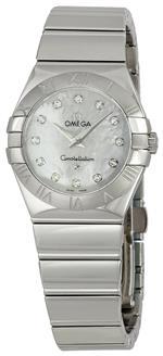 オメガ 時計 Omega Womens 123.10.27.60.55.002 Constellation 09 Mother of Pearl Dial Watch