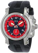 オークリー 時計 Oakley Mens 10-217 Holeshot Unobtainium Strap Edition Chronograph Rubber Watch