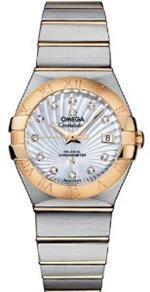 オメガ 時計 Omega Constellation Mother of Pearl Diamond Dial Steel and 18kt Yellow Gold Ladies Watch<img class='new_mark_img2' src='https://img.shop-pro.jp/img/new/icons1.gif' style='border:none;display:inline;margin:0px;padding:0px;width:auto;' />