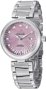 オメガ 時計 Omega De Ville Ladymatic Stainless Steel Pink Mother of Pearl Diamond Automatic Watch<img class='new_mark_img2' src='https://img.shop-pro.jp/img/new/icons12.gif' style='border:none;display:inline;margin:0px;padding:0px;width:auto;' />