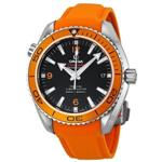 オメガ 時計 Omega Seamaster Planet Ocean Automatic Black Dial Orange Rubber Mens Watch