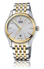 オリス 時計 Oris 73376704351MB Watch Artelier Date Mens - Silver Dial Steel Case Automatic Movement