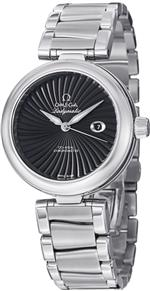 オメガ 時計 Omega De Ville Ladymatic Automatic Black Dial Stainless Steel Ladies Watch
