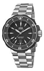 <img class='new_mark_img1' src='https://img.shop-pro.jp/img/new/icons15.gif' style='border:none;display:inline;margin:0px;padding:0px;width:auto;' />オリス 時計 Oris Mens 01 733 7646 7154 07 8 26 71PEB Black Dial Watch