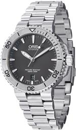 オリス 時計 Oris Aquis Mens Stainless Steel Automatic Watch 733 7676 4153 MB