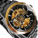 その他 時計 Vandesail Black Fashion Unreal Colour Dail Lens Watch Automatic Mechanical Luminous