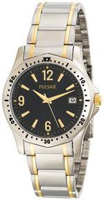 パルサー 時計 Pulsar Mens PXH615 Sport Two-Tone Stainless Steel Watch