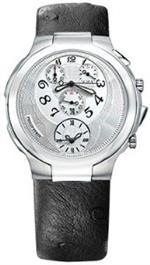 フィリップ ステイン 時計 Philip Stein Teslar Chronograph watch - Black ostrich Strap