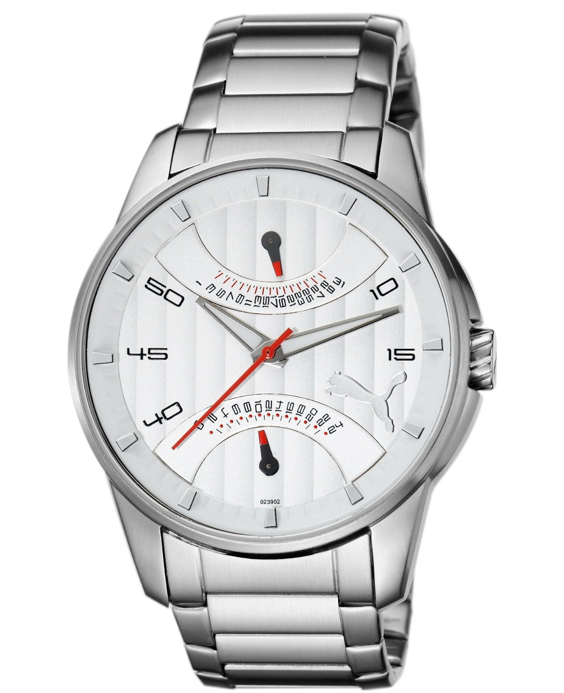 wholesale dealer e5f81 8e683 プーマ 時計 Puma Time Gents Watch XL 24H Race Metal Silver Red Analog Quartz  Stainless Steel - 輸入時計専門店 ショップ タイムズ 通販