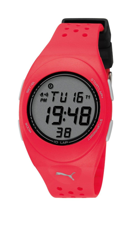 super popular 4ba43 aa3c6 プーマ 時計 Puma Faas 250 Unisex Digital Watch with LCD Dial Digital Display and  Red PU Strap - 輸入時計専門店 ショップ タイムズ 通販