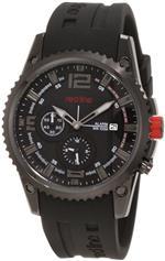 レッドライン 時計 red line Mens 50031YM-BB-01 Boost Black Dial Black Silicone Watch