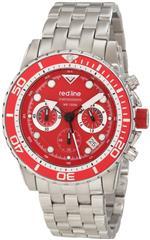 レッドライン 時計 red line Mens RL-50034-55-RD-BZ Piston Chronograph Red Dial Watch