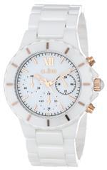 レッドライン 時計 a_line Womens AL-20041-WWWRR Marina Chronograph White Dial White Ceramic Watch
