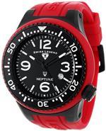 スイスレジェンド 時計 Swiss Legend Mens 21818S-F-TBB Neptune Black Dial Maroon Silicone Watch
