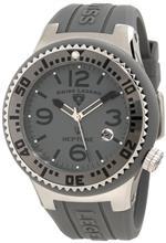 スイスレジェンド 時計 Swiss Legend Mens 21848P-014 Neptune Grey Dial Grey Silicone Watch