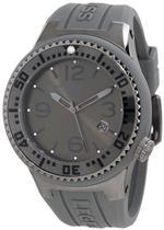 スイスレジェンド 時計 Swiss Legend Mens 21848P-GM-018 Neptune Charcoal Grey Dial Grey Silicone Watch