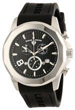 スイスレジェンド 時計 Swiss Legend Mens 10042-01 Monte Carlo Chronograph Black Textured Dial Black