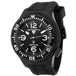 スイスレジェンド 時計 Swiss Legend Mens 21818P-BB-01 Neptune Collection Black Textured Rubber Watch