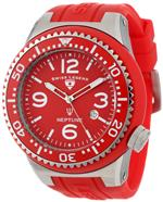 スイスレジェンド 時計 Swiss Legend Mens 21818S-C-OSU Neptune Red Dial Red Silicone Watch