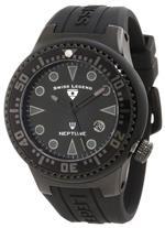 スイスレジェンド 時計 Swiss Legend Mens 21848D-PHT-01 Neptune Black Dial Black Silicone Watch