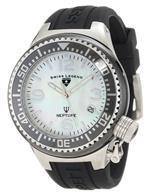 スイスレジェンド 時計 Swiss Legend Womens 11844-BKWSA Neptune White Mother-Of-Pearl Dial Watch