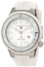 スイスレジェンド 時計 Swiss Legend Mens 21848D-02-WHT Neptune White Dial White Silicone Watch