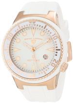 スイスレジェンド 時計 Swiss Legend Mens 21848D-RG-02-WHT Neptune White Dial White Silicone Watch