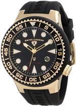 スイスレジェンド 時計 Swiss Legend Mens 21848D-YG-01-NB Neptune Black Dial Black Silicone Watch