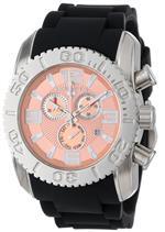 スイスレジェンド 時計 Swiss Legend Mens 20067-09 Commander Collection Chronograph Rose Dial Black