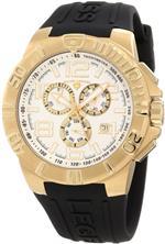 スイスレジェンド 時計 Swiss Legend Mens 40118-YG-02S Super Shield Chronograph Silver Dial Watch