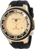 スイスレジェンド 時計 Swiss Legend Mens 21848P-YG-10 Neptune Gold Dial Black Silicone Watch<img class='new_mark_img2' src='https://img.shop-pro.jp/img/new/icons3.gif' style='border:none;display:inline;margin:0px;padding:0px;width:auto;' />