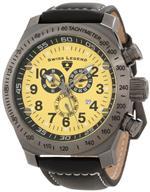 スイスレジェンド 時計 Swiss Legend Mens 22828-GM-07 SL Pilot Chronograph Yellow Dial Watch