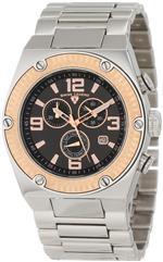 スイスレジェンド 時計 Swiss Legend Mens 40025P-11-RB Throttle Chronograph Black Dial Watch