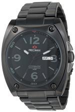 スイスプレシマックス 時計 Precimax Mens PX13208 Fortis Automatic Black Dial Black Stainless-Steel