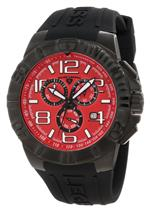 スイスレジェンド 時計 Swiss Legend Mens 40118-BB-05 Super Shield Chronograph Red Dial Watch