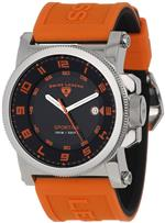 スイスレジェンド 時計 Swiss Legend Mens 40030-01-OAS Sportiva Black Textured Dial Orange Silicone